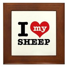 I love my Sheep Framed Tile