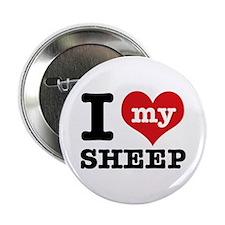 """I love my Sheep 2.25"""" Button"""