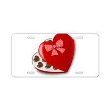 Candy For My Valentine Aluminum License Plate