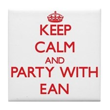 Keep Calm and Party with Ean Tile Coaster