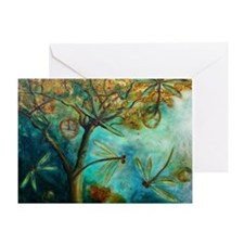 Dragonfly Flirtation Greeting Cards