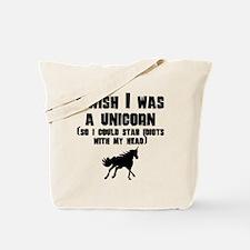 I Wish I Was A Unicorn Tote Bag