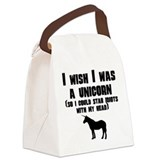 Unicorn idiots Canvas Lunch Bag