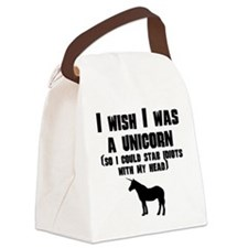 I Wish I Was A Unicorn Canvas Lunch Bag