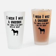 I Wish I Was A Unicorn Drinking Glass