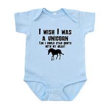 I Wish I Was A Unicorn Body Suit