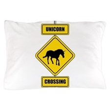 Unicorn Crossing Sign Pillow Case
