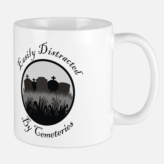 Easily Distracted By Cemeteries Mug