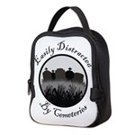Easily Distracted By Cemeteries Neoprene Lunch Bag