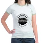 Easily Distracted By Cemeteries Jr. Ringer T-Shirt