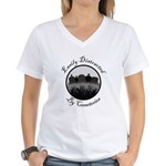 Easily Distracted By Cemeteries Women's V-Neck T-S