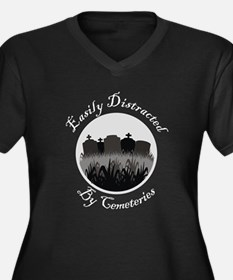 Easily Distracted By Cemeteries Women's Plus Size