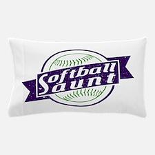 Softball Aunt Pillow Case