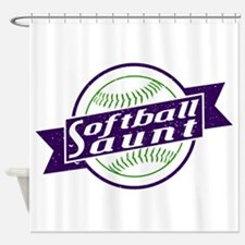 Softball Aunt Shower Curtain
