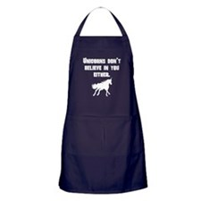 Unicorns Dont Believe In You Either Apron (dark)