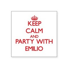 Keep Calm and Party with Emilio Sticker