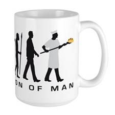 Evolution of man baker Mugs