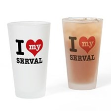 I love my Serval Drinking Glass