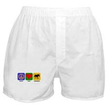 Peace Love Unicorns Boxer Shorts