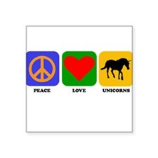 Peace Love Unicorns Sticker
