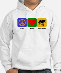 Peace Love Unicorns Jumper Hoody
