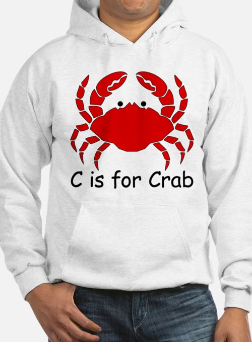 C is for Crab Hoodie