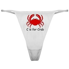 C is for Crab Classic Thong