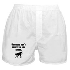 Unicorns Dont Believe In You Either Boxer Shorts