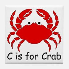 C is for Crab Tile Coaster