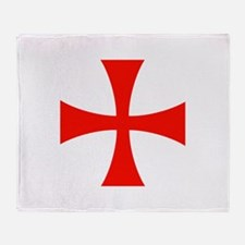 Knights Templar Cross Throw Blanket