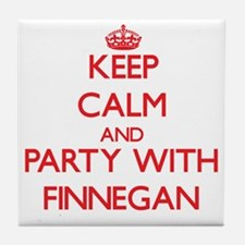 Keep Calm and Party with Finnegan Tile Coaster