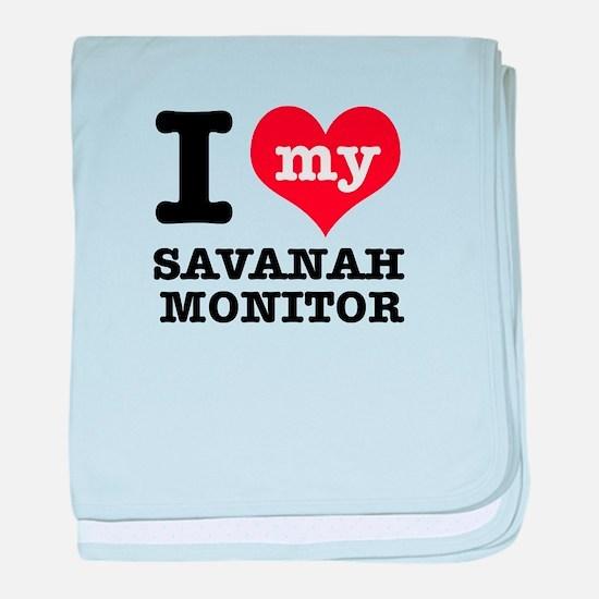 I love my Savanah Monitor baby blanket