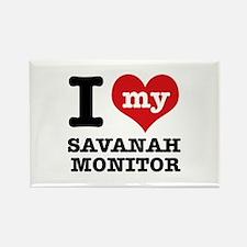 I love my Savanah Monitor Rectangle Magnet