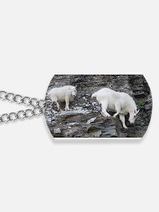 Mountain Goat Dog Tags