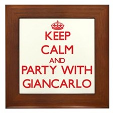 Keep Calm and Party with Giancarlo Framed Tile