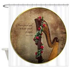 Harp Shower Curtain