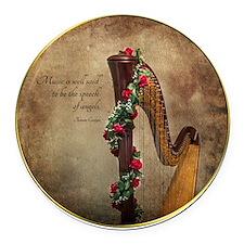Harp Round Car Magnet