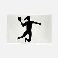 Womens handball Rectangle Magnet