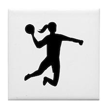Womens handball Tile Coaster