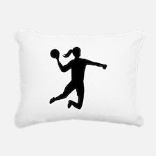Womens handball Rectangular Canvas Pillow