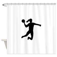 Womens handball Shower Curtain