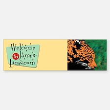 Leopard Bumper Bumper Bumper Sticker