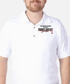 Zombie Hunter - Hairdresser Golf Shirt