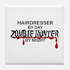 Zombie Hunter - Hairdresser Tile Coaster