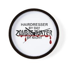 Zombie Hunter - Hairdresser Wall Clock