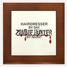 Zombie Hunter - Hairdresser Framed Tile
