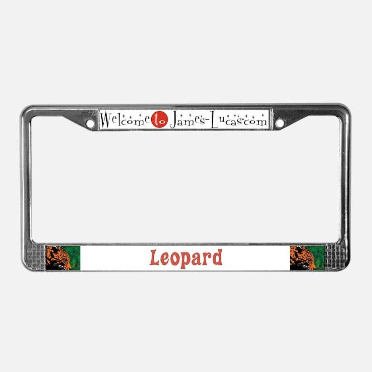 Leopard License Plate Frame