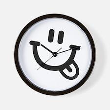 Smiley face tongue Wall Clock