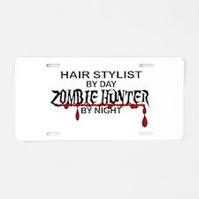 Zombie Hunter - Hair Stylist Aluminum License Plat