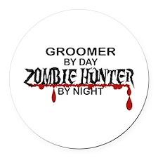 Zombie Hunter - Groomer Round Car Magnet
